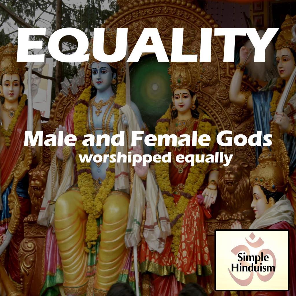 hindu male and female gods