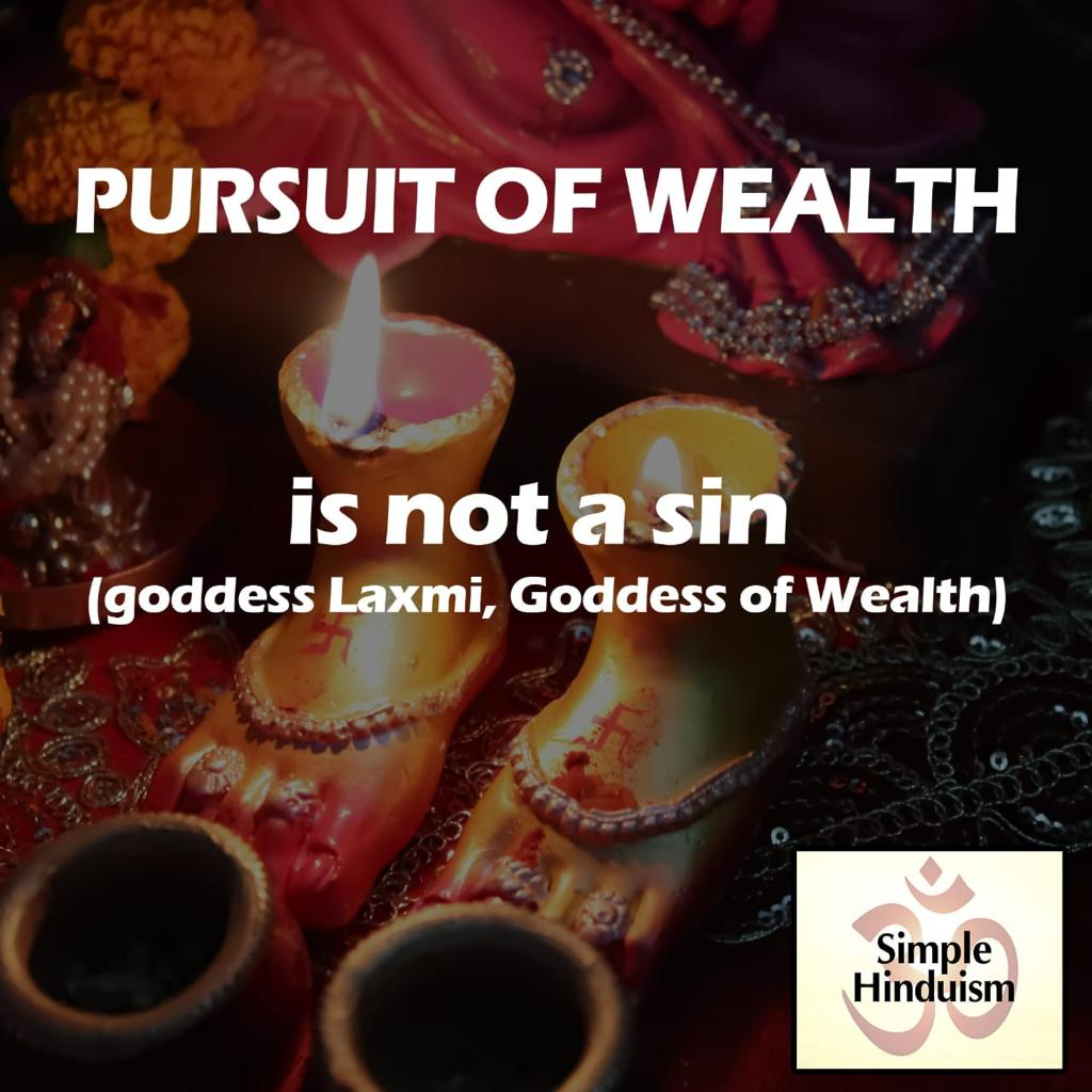 Pursuit of wealth in hindus