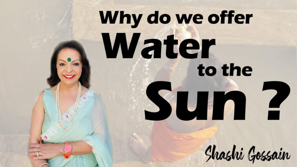 Why do Hindus offer water to the surya devta or sun god?